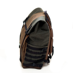 Waxed Canvas Backpack (Adam A.) Tags: classic bike bicycle bag handmade retro backpack messenger custom courier tincloth waxwear zugster waxedcanvas