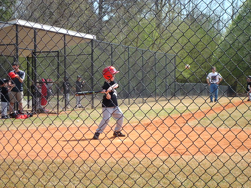 first at bat of the season -- He had a great hit!