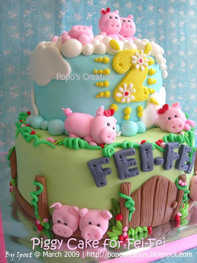 Piggy cake for Fei-Fei