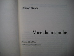 Denton Welch, Voce da una nube, Casagrande 2006, frontespizio (part.)