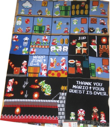 Crochet Mario blanket whole