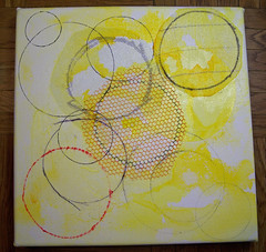 Yellow circle canvas, stage one