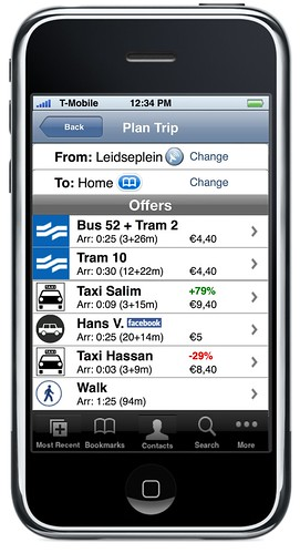 iPhone Transit Planner