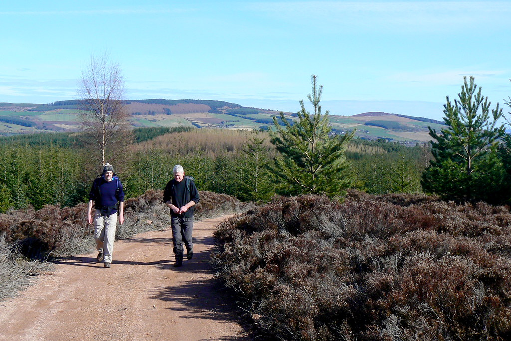 Heading up the cinder track