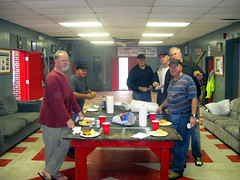 Lunch for a hungry crew of Teke landscapers from back in the day. (V-rider) Tags: sc project landscape hall fraternity rainy communityservice tke brokaw newberry teke rhm vrider newberrycollege omicrontheta