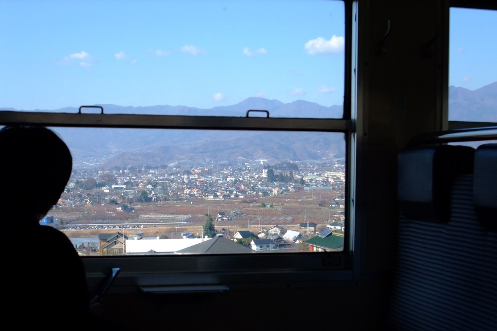 the Kofu basin view from train