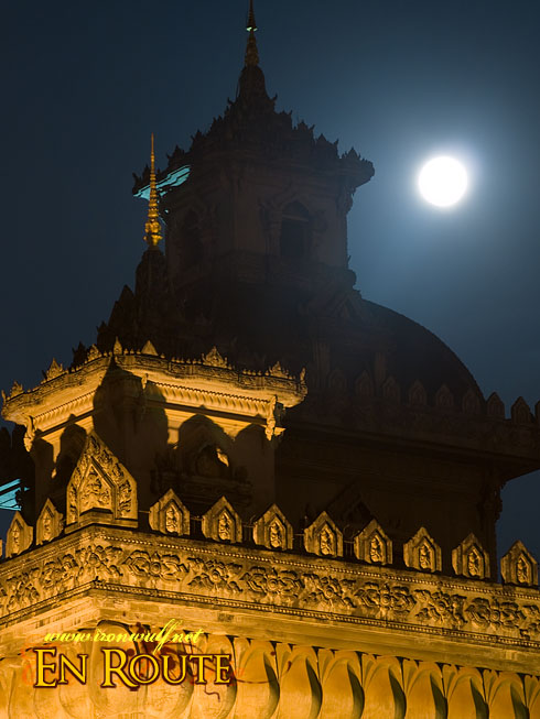 Patuxai Moon and tower