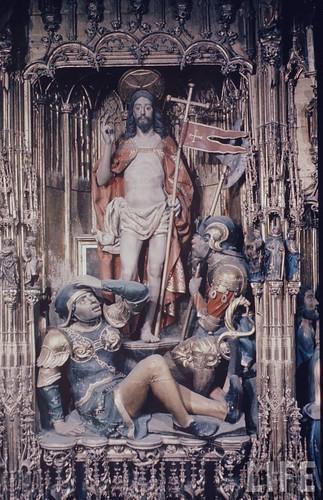 Detalle del altar mayor de la Catedral de Toledo en 1963. Fotografía de Dmitri Kessel. Revista Life (14)