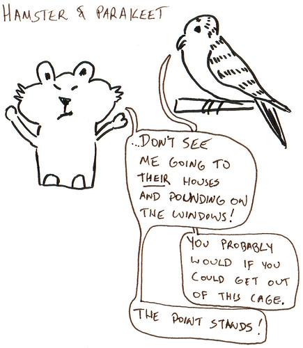366 Cartoons - 062 - Hamster and Parakeet
