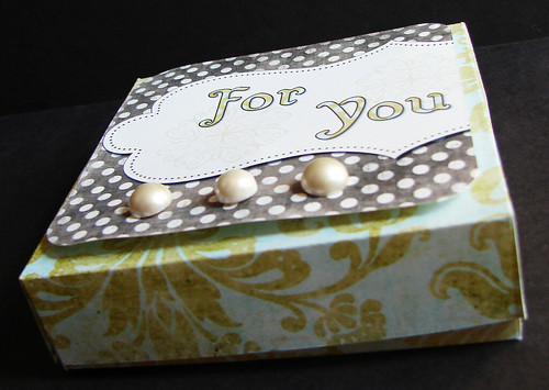 Damask Mini Pizza Box (outside)