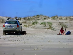 Mile 83 Ocracoke Island Beach (Tandem Guy) Tags: signs beach easter island nc surf dunes northcarolina subaru outerbanks ocracoke
