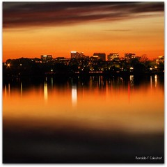 Tidal Basin (Ronaldo F Cabuhat) Tags: birthday longexposure trip travel trees sunset vacation orange art water lamp colors beautiful beauty night canon buildings palms square photography lights washingtondc photo dc washington colorful peace nightshot bright patterns arts picture tranquility sunny pic visit images fresh photographs serenity serene figures depth squared waterreflection tidalbasin canoneosdigitalrebelxti pinoykodakero cabuhat