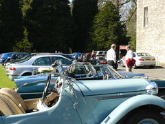 Everyone relaxing in the sunshine, at Culcreuch Castle