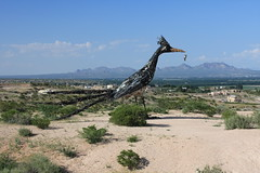 Roadrunner (dherrera_96) Tags: mountains newmexico statue nm lascruces roadrunner