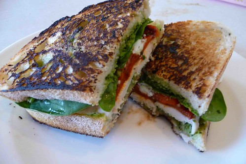 Grilled Chicken & Pesto Panini