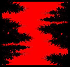 Vertical (Philipp Korting) Tags: red black rot art vertical germany rouge deutschland rojo graphic negro artificial owl fir alemania nrw rosso processed allemagne schwarz rahmen germania tanne kunstwerk noire 红 salzkotten firtrees bearbeitet vertikal upsprunge paderbornerland upsprinken