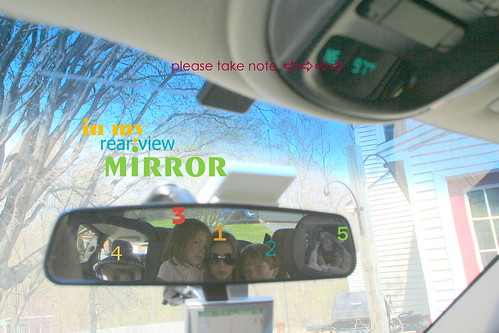 in my rear view mirror