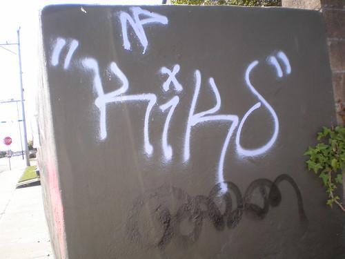 Graffiti on Carson St, Eureka 02