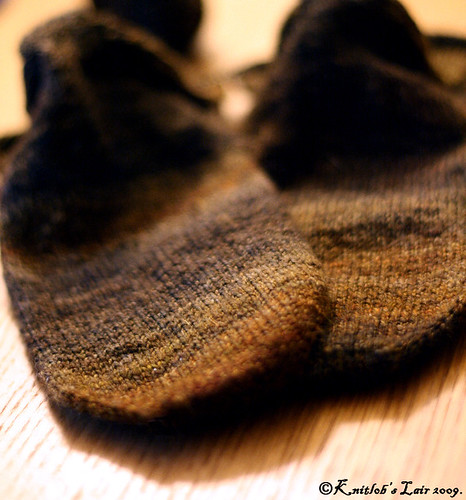calico handspun socks 2