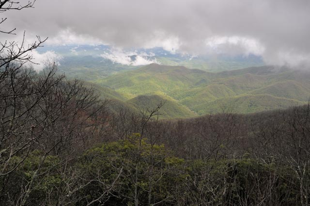View from Wayah Bald in Nantahala National Forest
