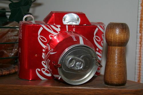 Camera made from Coke cans from Mexcio