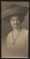 Edwardian Era Lady in Large Roll Brim Hat (R.O.Holcomb) Tags: hat lady vintage large photograph era roll edwardian brim