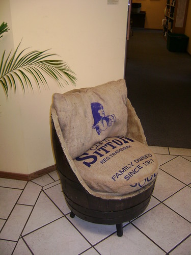Sit On A Barrel Chair