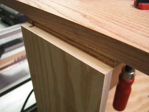 routed drawer in progress