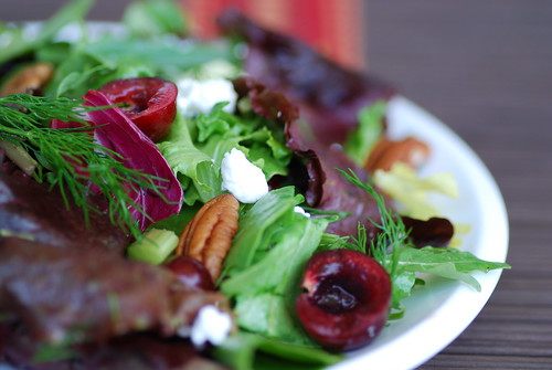 cherry and goat cheese salad 2
