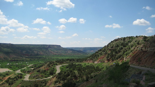 Road Winding Down Palo Duro Canyon