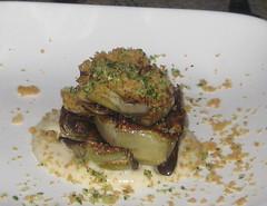 Picco in Larkspur, CA - pan roasted artichoke, coriander aioli