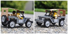 Willys Jeep W/Canvas (The Ranger of Awesomeness) Tags: david ford lego jeep wwii luna mb gp willys roa brickarms