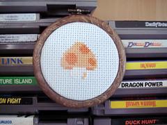 Power Mushroom (benjibot) Tags: crossstitch crafts videogames nes supermariobros