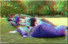 Air Bounce - Eli's Birthday (starg82343) Tags: birthday family girl youth children outdoors 3d kid child olivia packing brian young anaglyph stereo hauling wallace liv loading squeezing deflating airbounce
