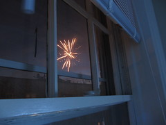 Fireworks out the window
