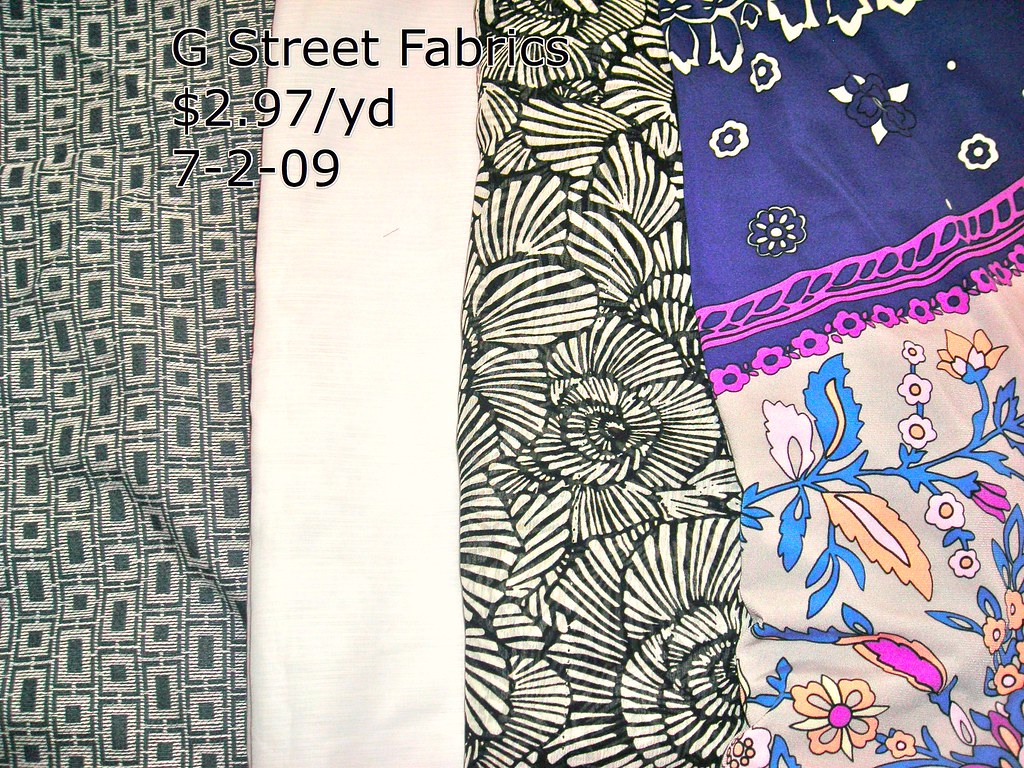 G Street Fabrics 7-2-09