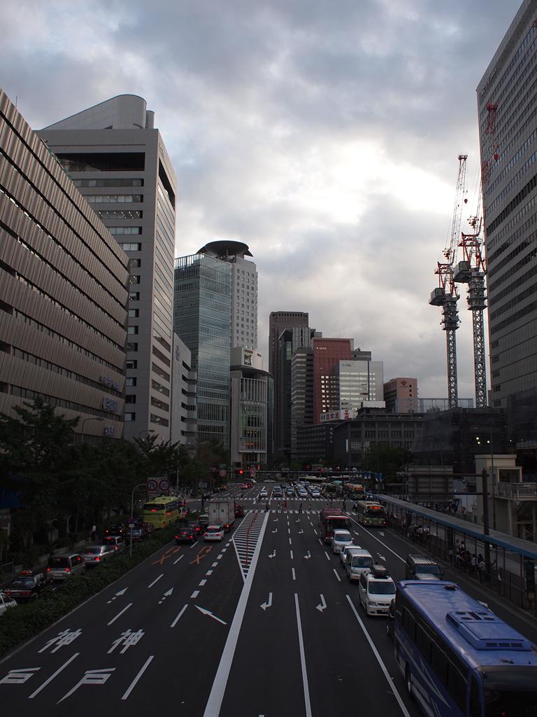 cloudy summer's dusk @Umeda, Osaka