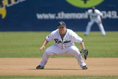 Brad Nelson covers a lot of ground at first base by Paul T. Marsh/PositivePaul