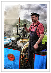 Steam Train driver (blueeyeddebby) Tags: raw driver debbie snowdonia hdr steamtrain northwales llnaberis blueeyeddebby thepinnaclehof tphofweek7