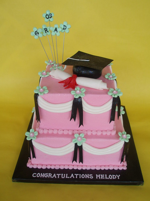 Feminine Graduation Cake