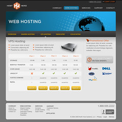 Host Head - VPS Hosting page (Cristian Bosch) Tags: webdesign templates mockups designcomps webcomps