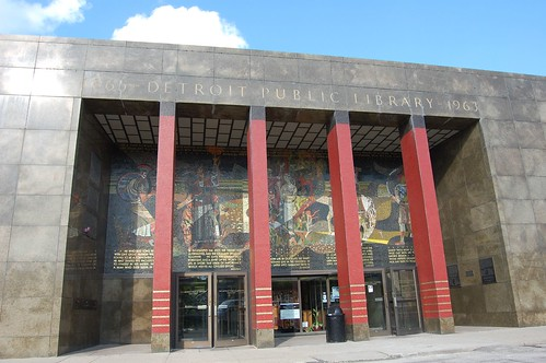 Cass Ave entrance, Detroit Public Library