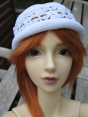 It really works, red hair and lavender eyes (sydneyfan2001) Tags: bjd amelia volks sd16