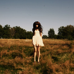 field (Laura Gommans) Tags: portrait sky selfportrait motion girl field forest hair gteborg jump ballerina doll portait gothenburg dresses lauragommans