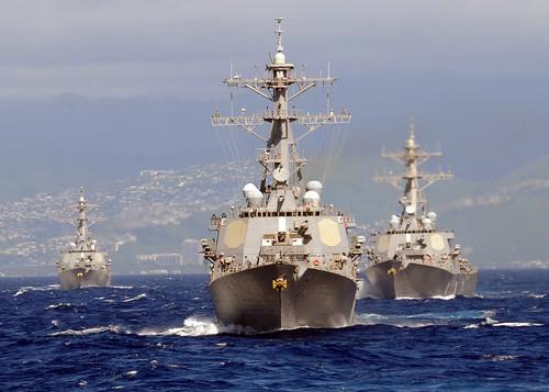 フリー写真素材, 乗り物, 船・船舶, 軍用船, 駆逐艦, アメリカ海軍,