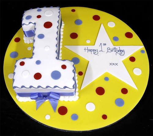 Figure One Birthday Cake with Star Plaque