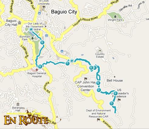 TNF 100 Trail Run 11k Map