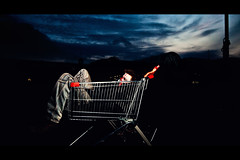 Rule #19: Blend in (RichardTerborg) Tags: sky dutch dark hand wide thenetherlands shoppingcart zombies almere sigma1020mm canon430ex strobist nikonsb24 canon400d zombieland