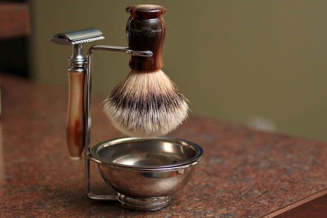 Edwin Jagger Silver Badger Brush and Double Edged Razor
