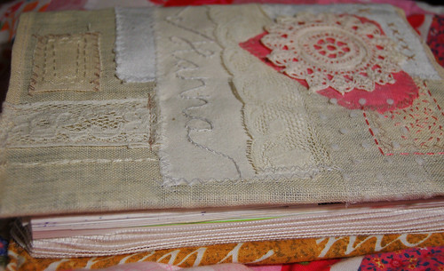Lacy diary notebook cover (copyright Hanna Andersson)